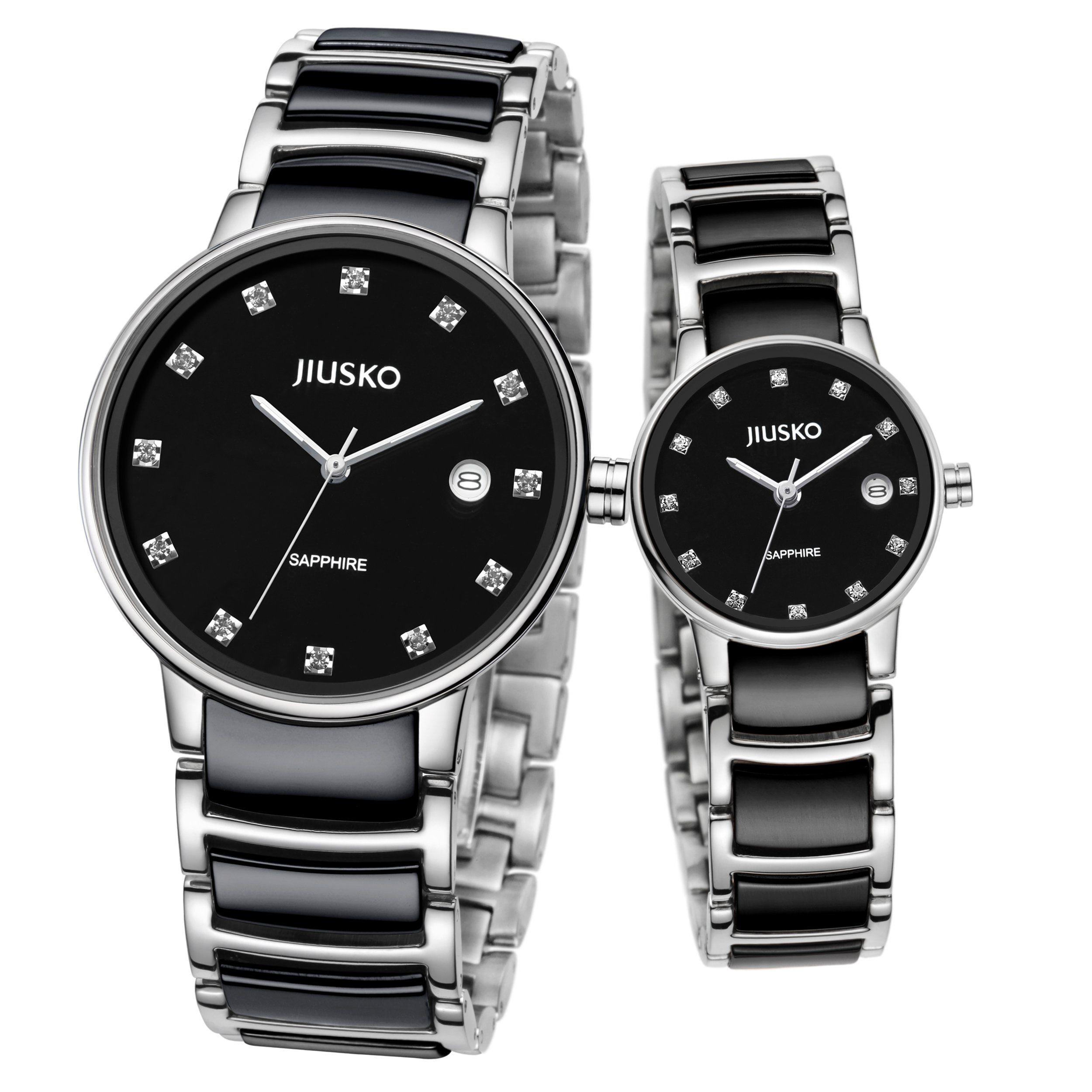 Jiusko Luxury Analog Quartz Couple Watches - His and Hers Matching ...