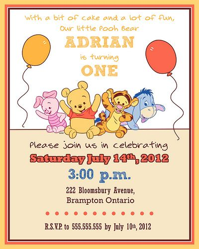 Baby Winnie The Pooh First Birthday Party Themes Winnie The Pooh Birthday Milestone Birthday Party