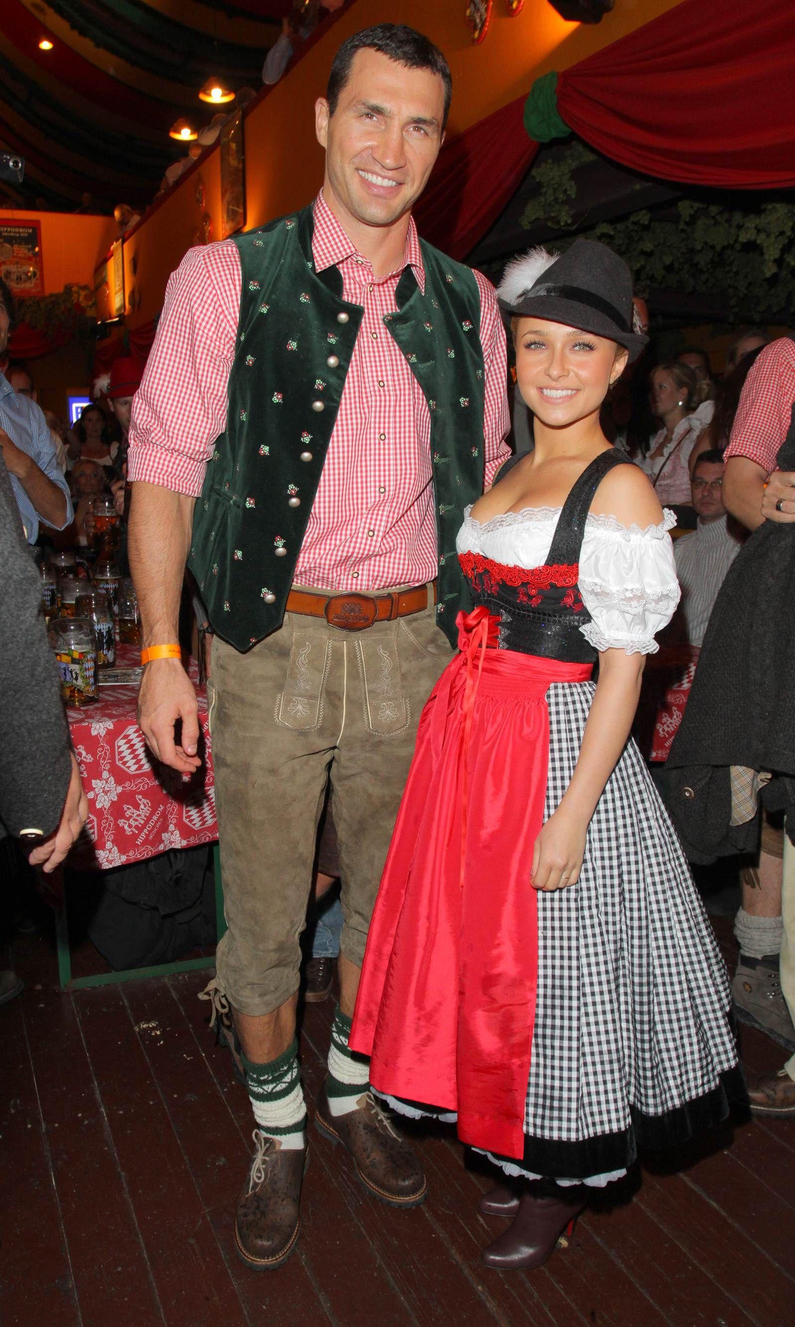 Hayden Panettiere in an Angermaier Dirndl  at Oktoberfest 2010 #TrachtenAngermaier #Angermaier