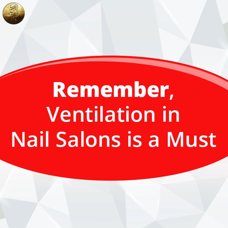 .There are a lot of things to think about when managing a nail salon. That's why it can be difficult, at times, to make ventilation a priority. How can you acknowledge a complaining customer if you don't even smell the salon odors anymore?