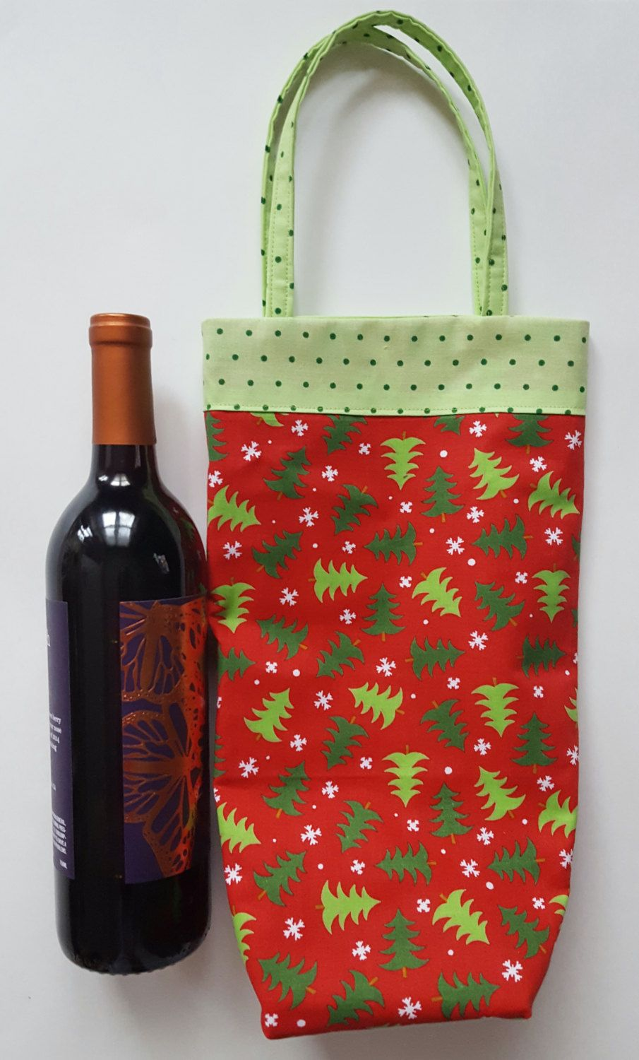 Wine Tote Christmas Wine Bag Holiday Wine Tote Wine Bag Christmas Gift Bag Lined Wine Bag Holiday Gift B Wine Bag Christmas Wine Bags Christmas Gift Bags