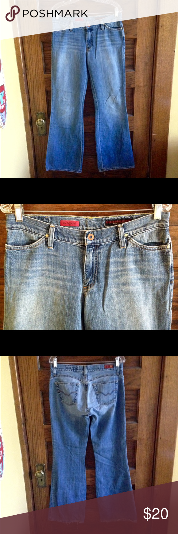 """AG Adriano Goldschmied-""""the legend"""" jeans-Sz.30R Gorgeous pair of jeans from: AG Adriano Goldschmied sized 30R. These are great pre owned condition, showing normal wear in the crotch, but no holes or tears. AG jeans are just so wonderfully soft!                                        Style: The Legend #GAT 1026                                  Measurements: waist:16/rise:8/inseam:31 AG Adriano Goldschmied Jeans Boot Cut"""