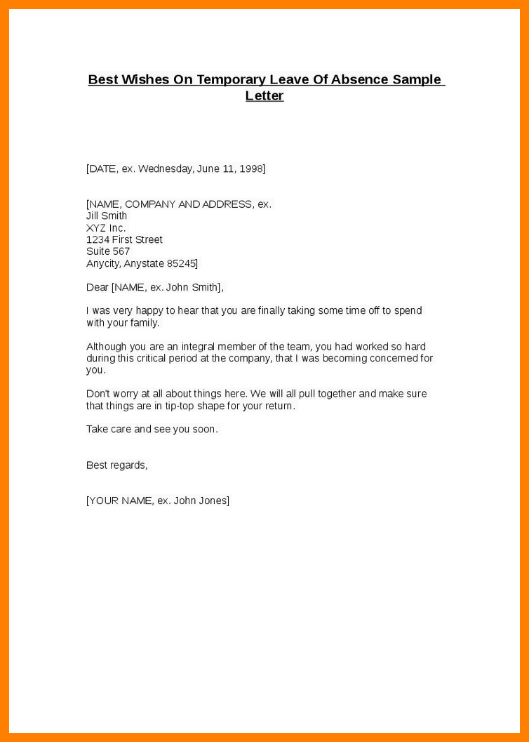 Sample Leave Request Letter For Vacation Job Letteres  Home