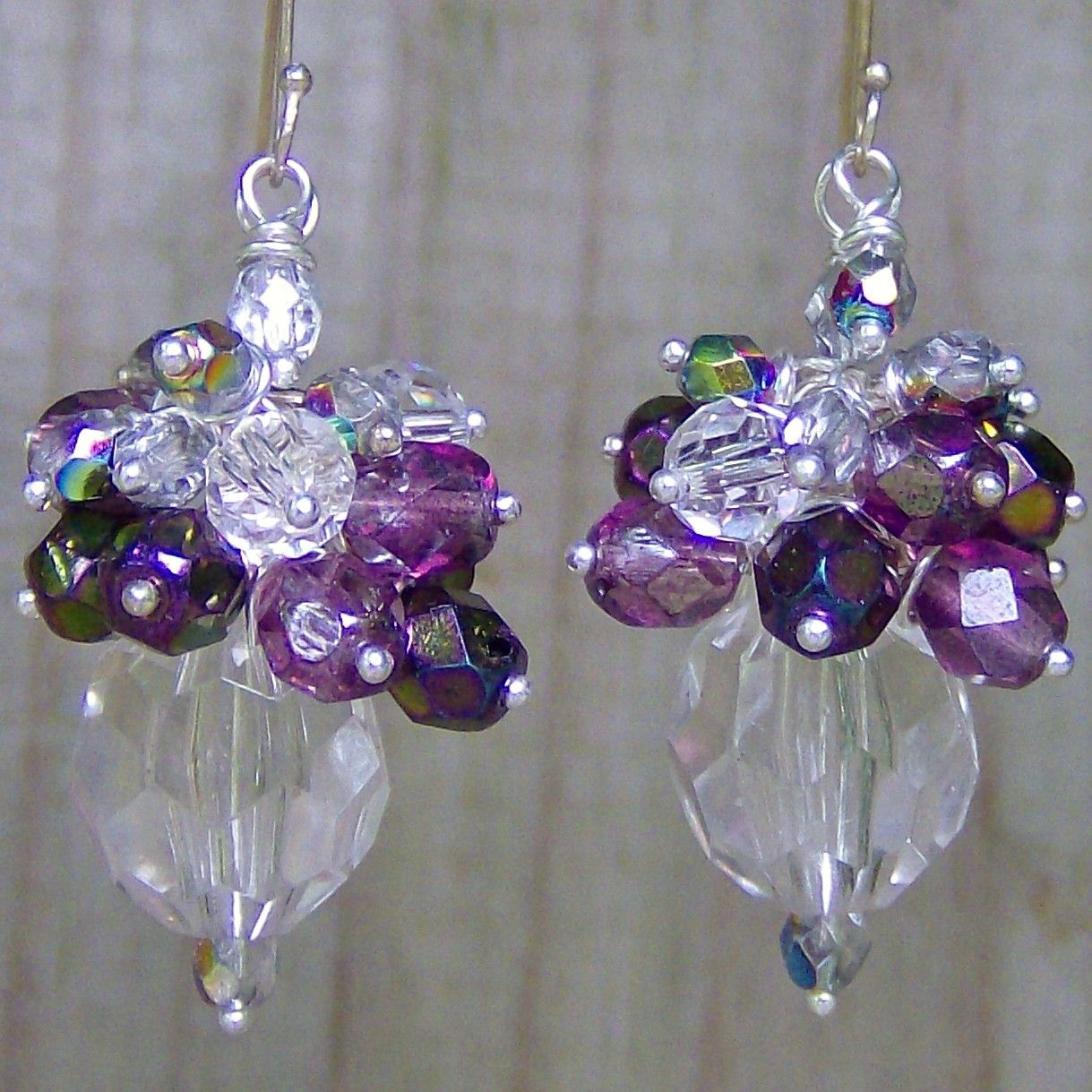Swarovski crystal earrings Wedding jewelry by TheeElegantBohemian, $38.00