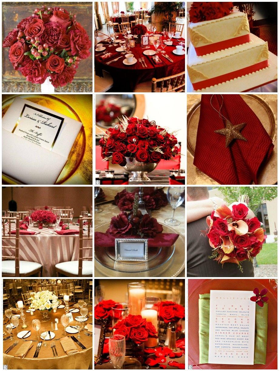 Wedding decoration ideas red and white  Red and Gold Wedding SUCH classy colors  Nigerian Engagement