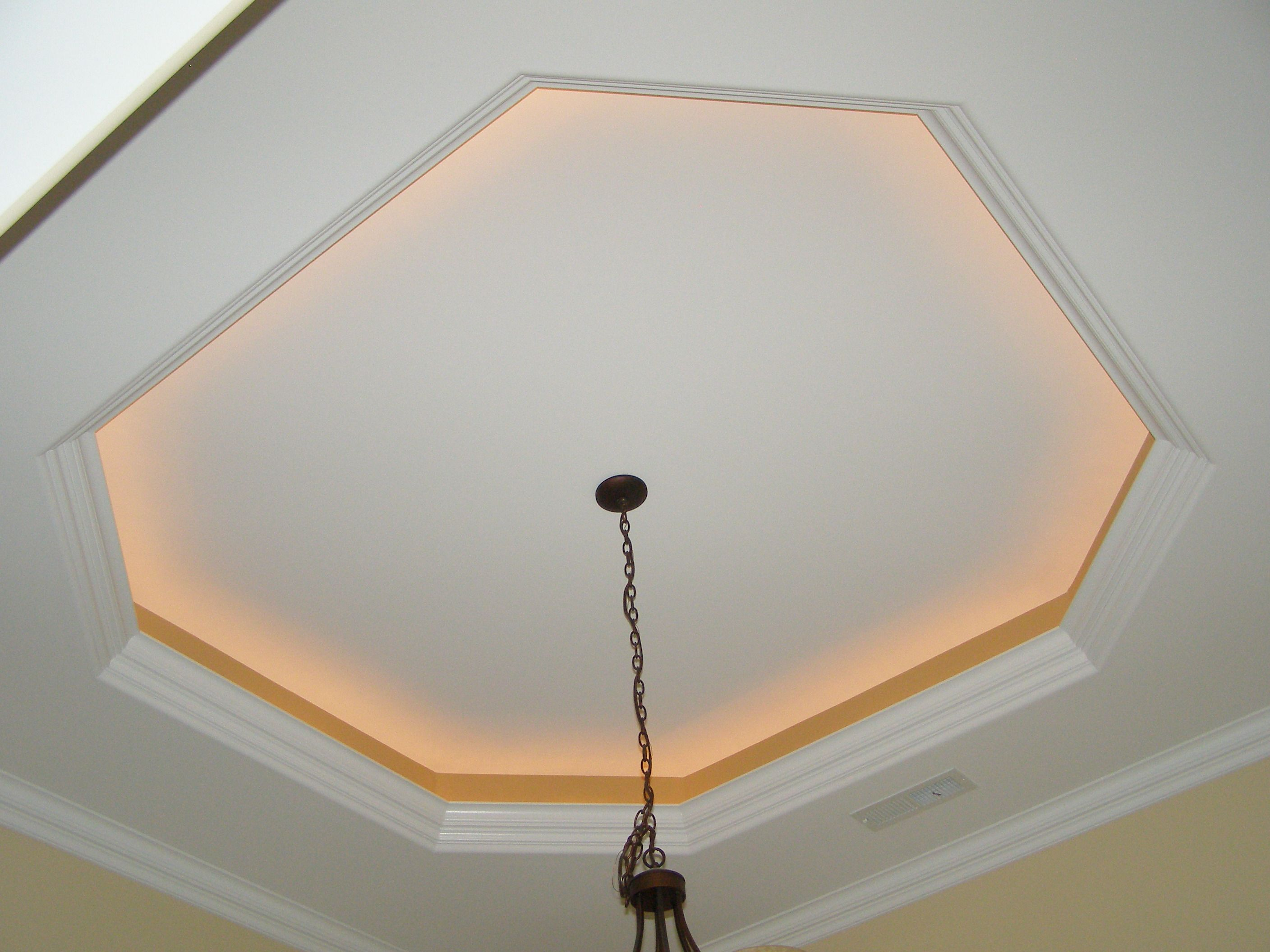 Foyer Tray Ceiling With Rope Lights