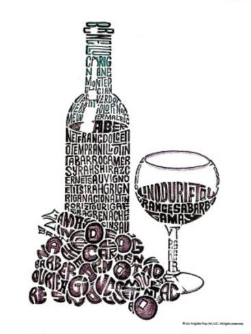 wine glass reds text art print poster mini poster デザイン パリ