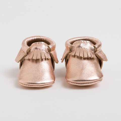Rose Gold Limited Edition Moccasins Future Baby Girl