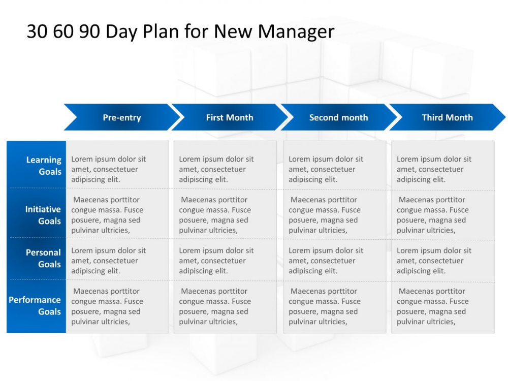 30 60 90 Day Plan For New Manager 90 Day Plan Marketing Plan Template Business Plan Template