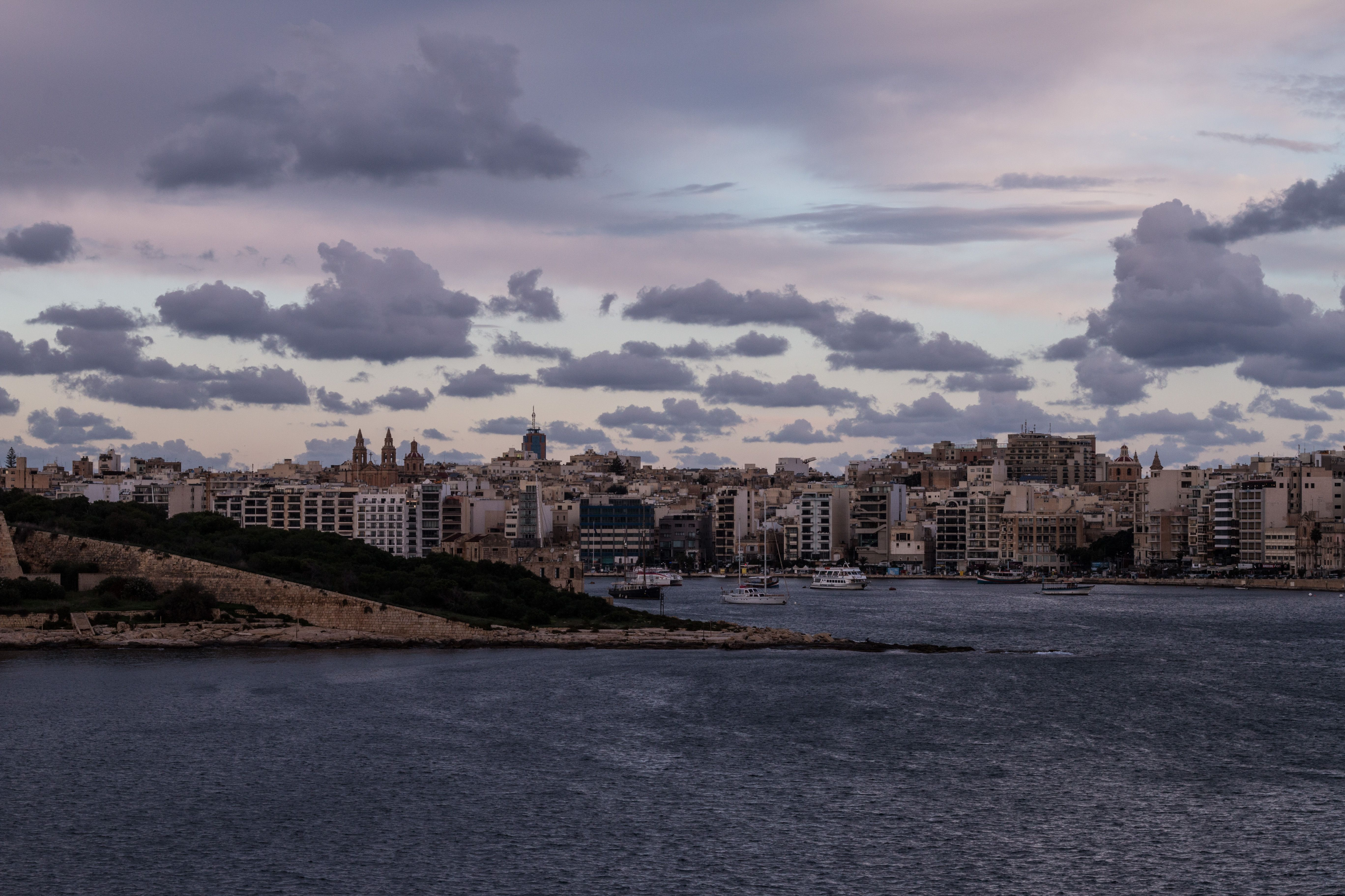 Winter Sunrise in La Valletta, Malta.