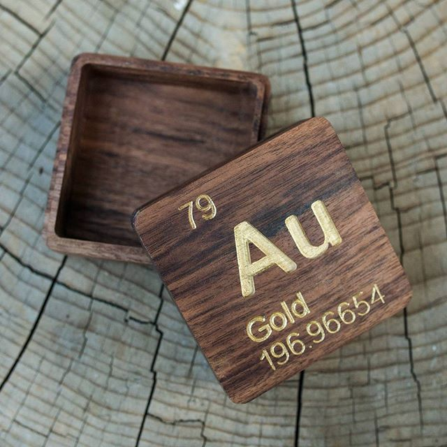 Introducing the luminous rex elemental series custom handmade introducing the luminous rex elemental series a carved box of solid walnut hardwood displaying your favorite atomic element from the periodic table urtaz Choice Image