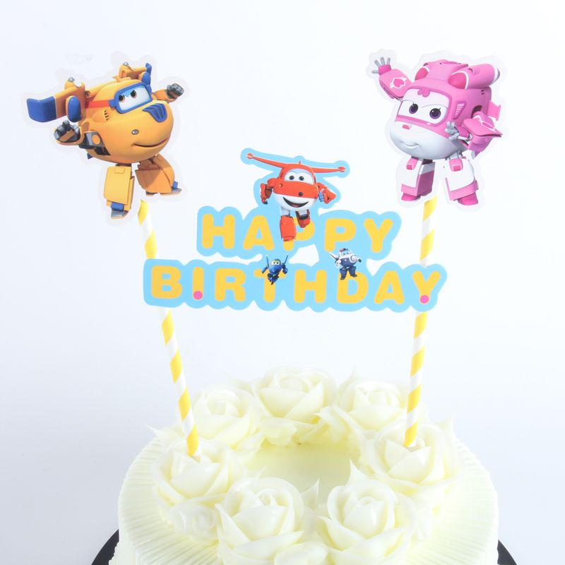 Cheap Cupcake Toppers Buy Quality Flag Cake Directly From China Suppliers 1pack Super Wings Topper Cartoon Flags With Paper