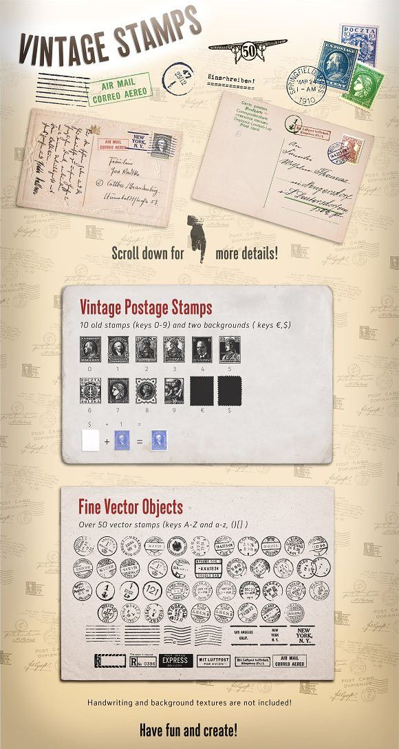 Vintage Stamps One Pinterest Symbols Fonts And Graphics