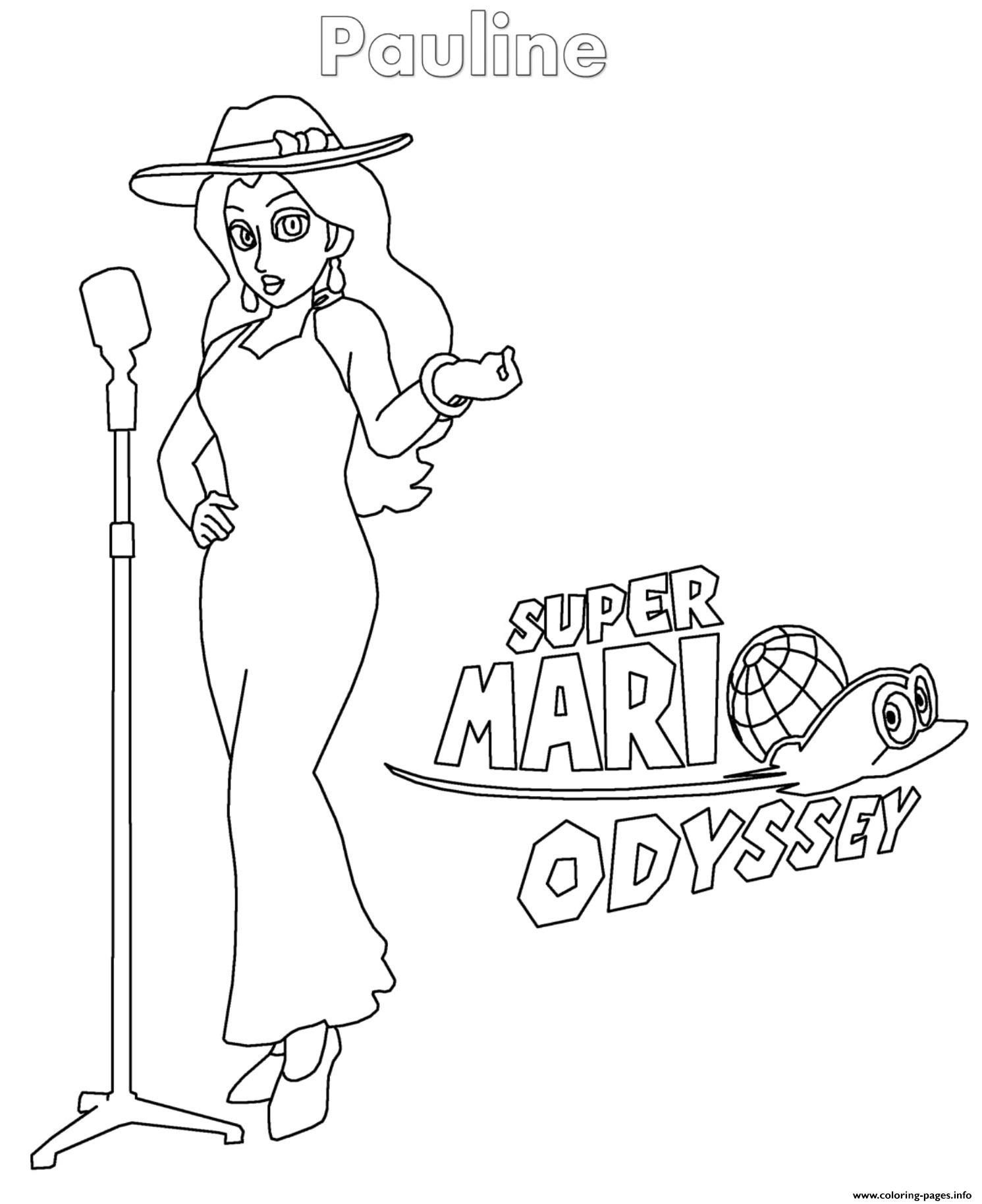 Mario Odyssey Coloring Pages Pauline Nintendo Coloring Pages Printable Super Mario Coloring Pages Mario Coloring Pages Elsa Coloring Pages