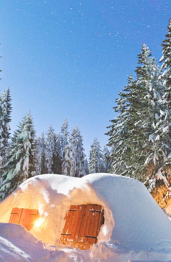 Offrez une nuit Esquimau dans un igloo | Bon cadeau, Idée cadeau
