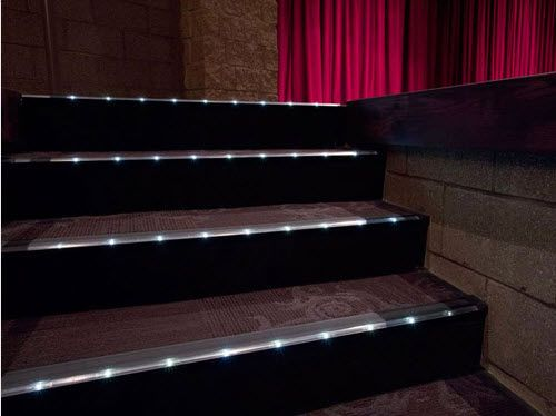 Steel Stair Nosing With Led Profile Architectural Step