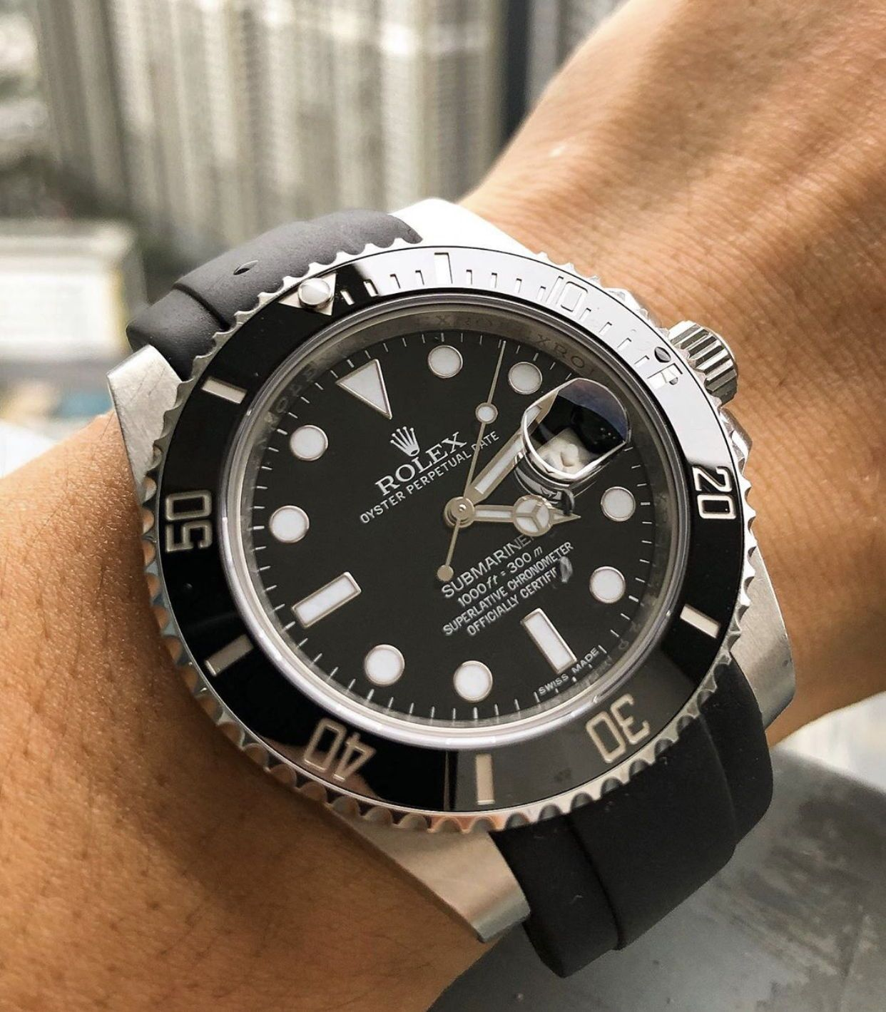 Pin by Everest Bands on Rubber Watch Straps for Rolex in