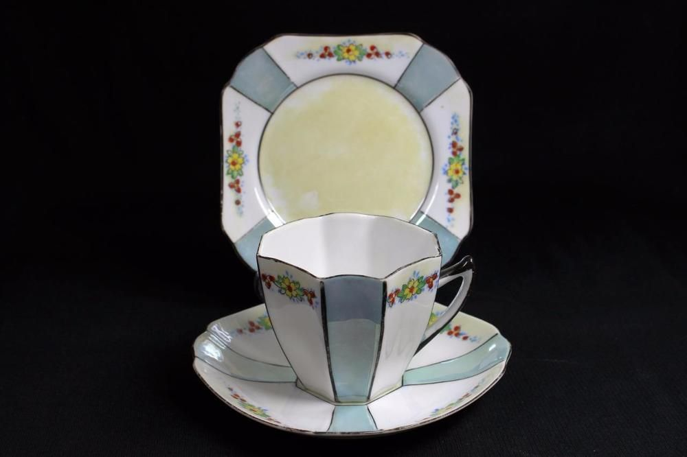 Vintage unmarked Shelley, Queen Anne Cup & Saucer & Plate. Trio | Pottery & Glass, Pottery & China, China & Dinnerware | eBay!