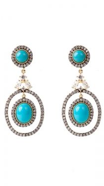 Double Earrings With Center Balls