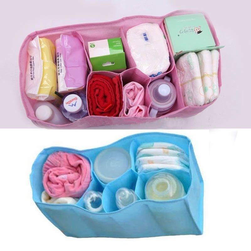 Baby Organizer Bag Portable Diaper Nappy Bottle Changing Divider StorageFG