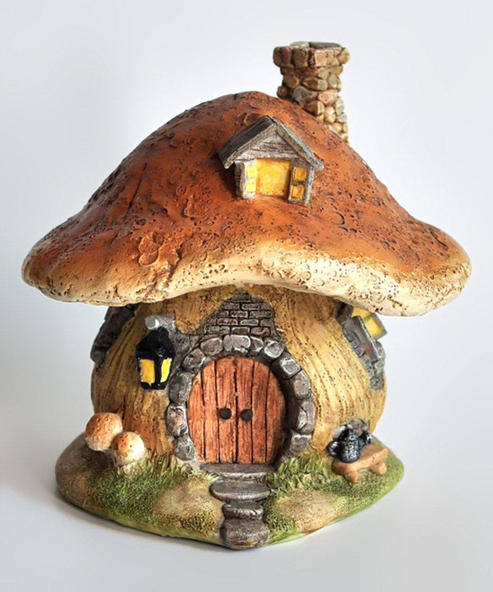 Another great find on #zulily! Brown Mushroom Fairy House Décor by ...