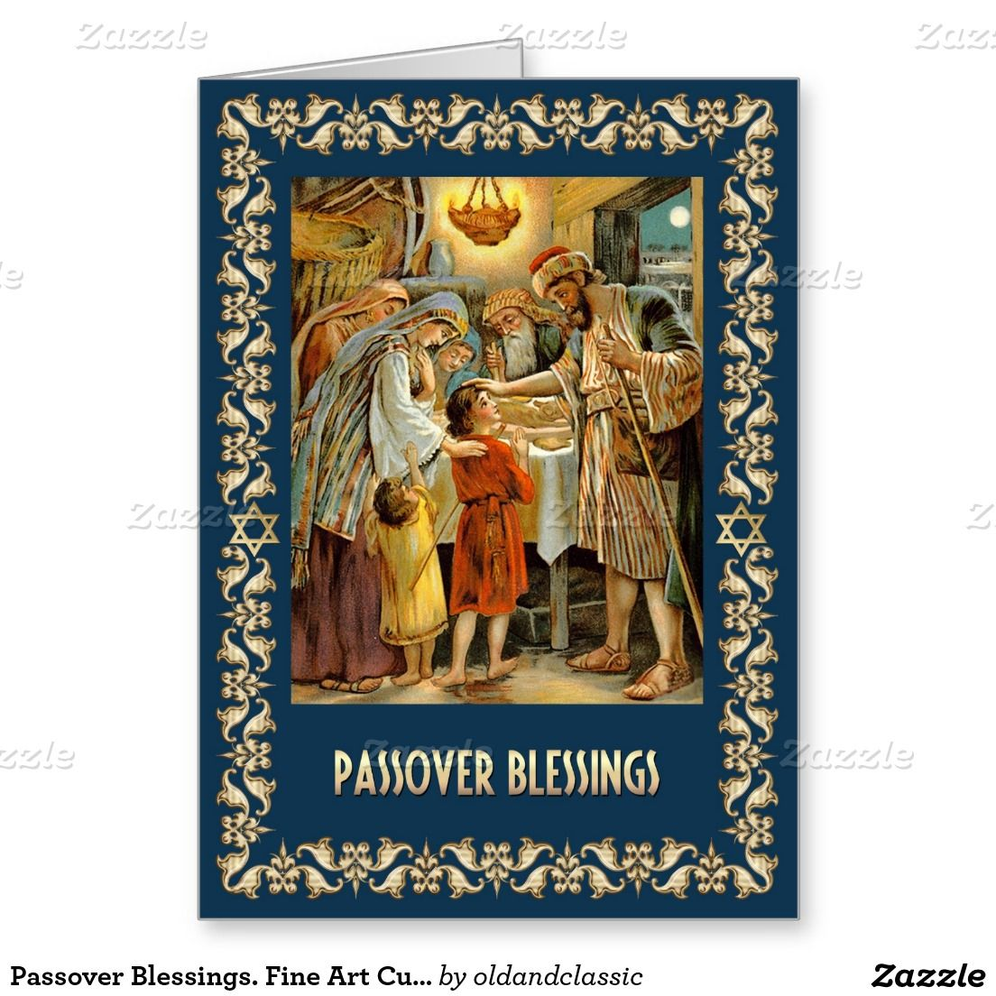 Passover Blessings Fine Art Customizable Cards Judaica