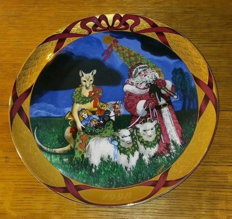 1998 Bing Grondahl Christmas Around The World Plate Santa In Australia Hans Plates Christmas Santa