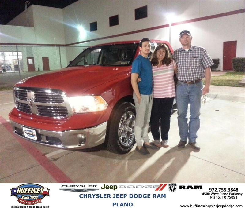 Congratulations to Tammy Stallcup on your #Ram #1500 purchase from Bill Moss at Huffines Chrysler Jeep Dodge RAM Plano! #NewCar