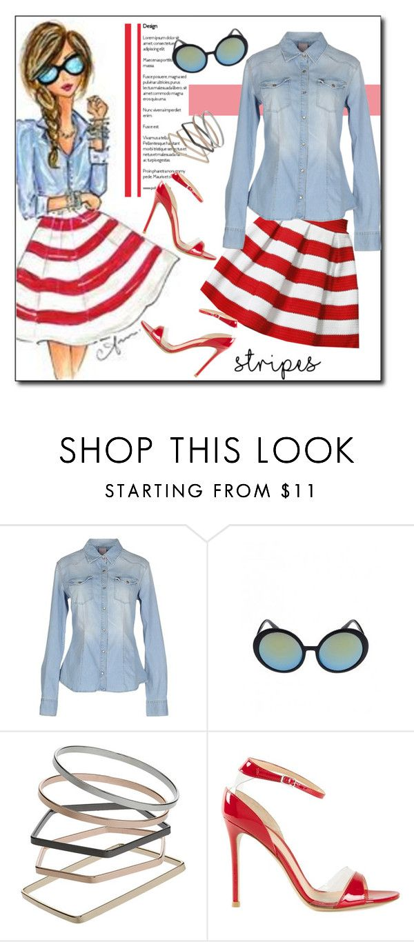 """Big, Bold Stripes"" by court8434 ❤ liked on Polyvore featuring (+) PEOPLE, Retrò, Topshop, Gianvito Rossi and BoldStripes"