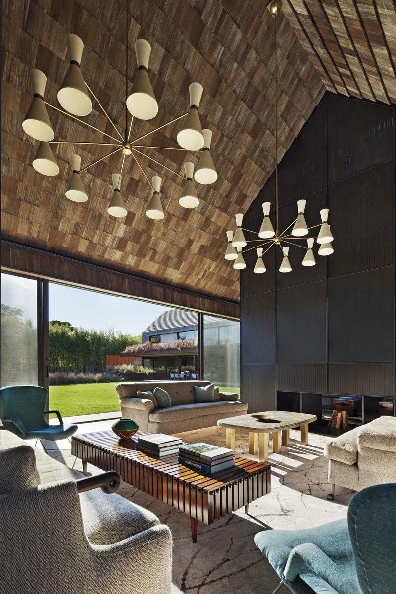 Holzschindeln Für Die Deckenverkleidung Des Wohnzimmers Design - Wohnzimmer deckenverkleidung