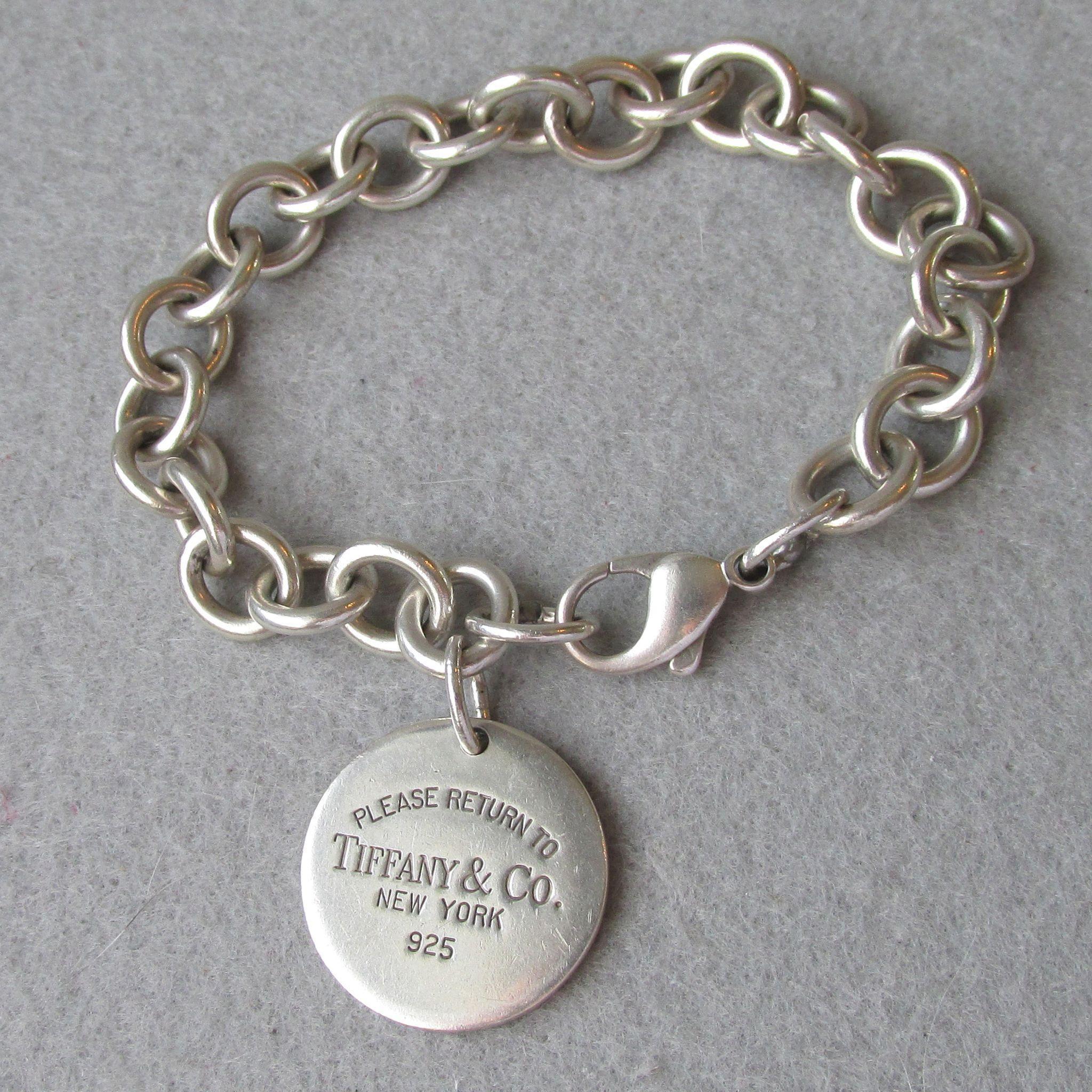 Vintage Return To Tiffany Amp Co Sterling Silver Bracelet Size Large 7 Silver Bangle Bracelets Sterling Silver Bracelets Tiffany Bracelets