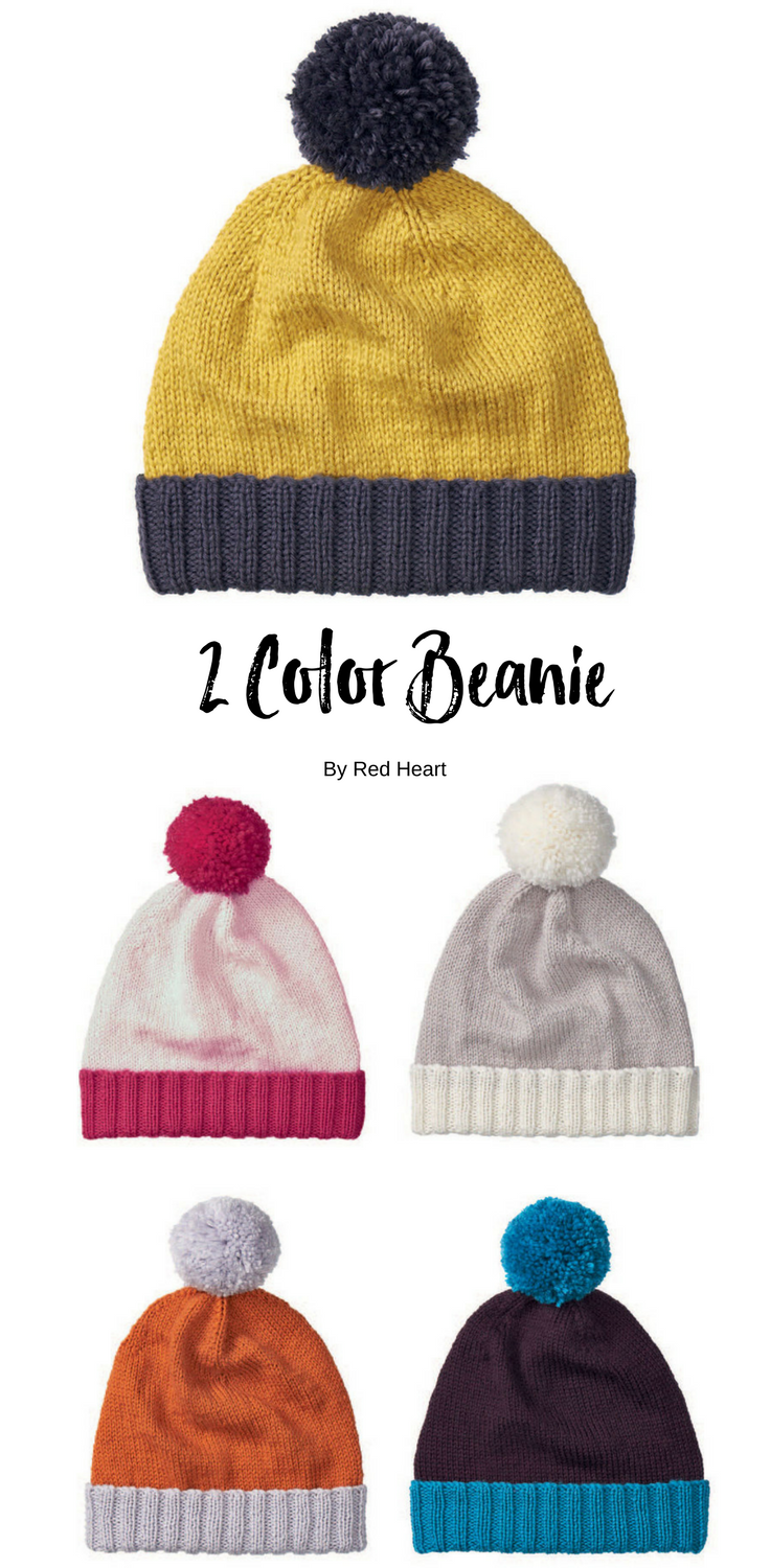 2 Color Beanie free knit pattern in Cleckheaton Superfine Australian Merino  yarn. 619ddc0f092