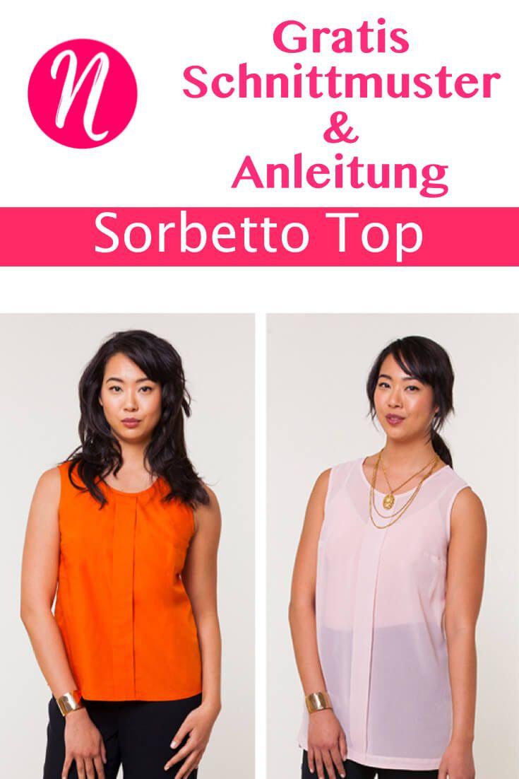Sorbetto Top - Das TOP aus Webware   Besuchen, Nähanleitung und Hübsch