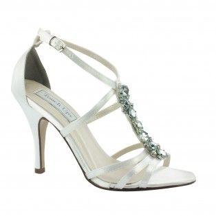 VANESSA-532 Women Rhinestones High Heels - White
