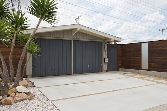 Separated Concrete Pads For A Carport Garage Door Design Modern