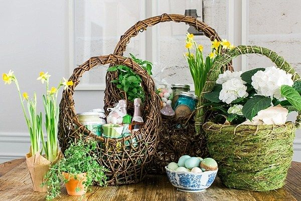 Diy adult easter baskets ideas inspiration via waiting on martha what a wonderful idea easter baskets arent just for kids these beautiful baskets will make the perfect easter gift for your mom sister or best friend negle Images