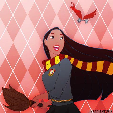 These Are The Hogwarts Houses The Disney Princesses Would Be Sorted Into Disney Hogwarts Disney Princess Pocahontas Harry Potter Disney