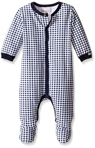 Coccoli Baby Footie NavyWhite Check 3 Months *** You can find more details by visiting the image link.Note:It is affiliate link to Amazon.