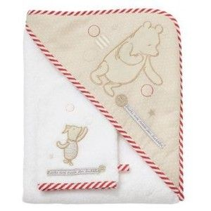NEW WINNIE THE POOH HOODED TOWEL WITH WASH MITT Baby Shower
