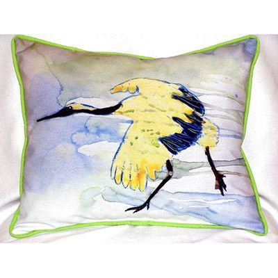 Betsy Drake Interiors Crane Indoor/Outdoor Lumbar Pillow