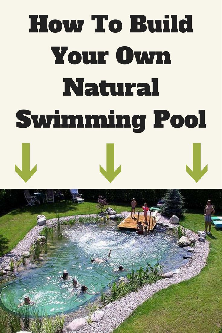 Build your own swimming pool from recycled materials for a for Design your own swimming pool