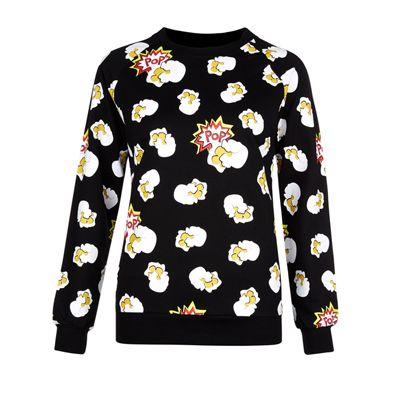 World Goes Pop popcorn sweatshirt