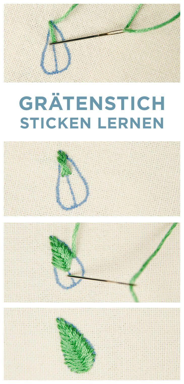 STICKEN FÜR ANFÄNGER - 8 GRUNDSTICHE ZUM STICKEN LERNEN