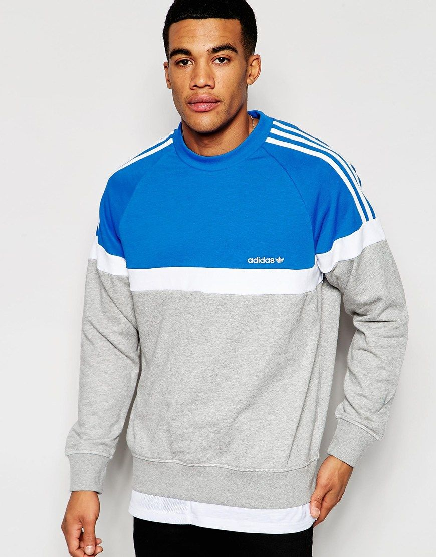 adidas white sneakers Adidas Itasca Crew Sweater Red Blue