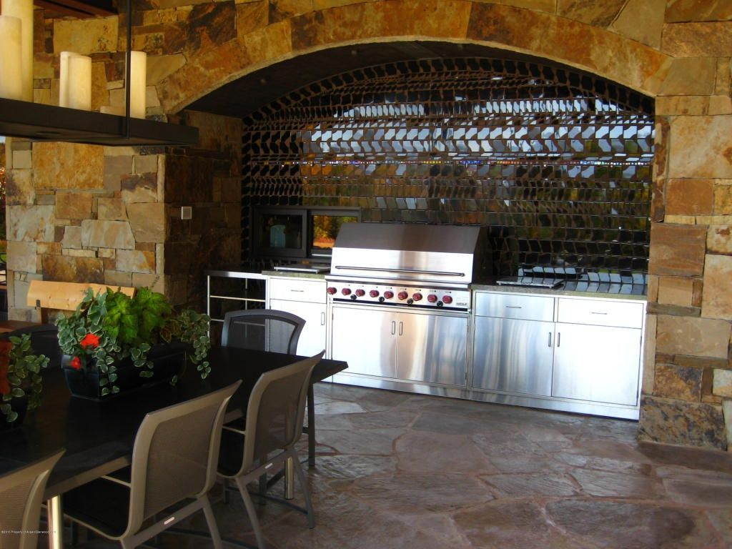 Outdoor kitchen. 0955 Little Woody Creek Rd, Woody Creek