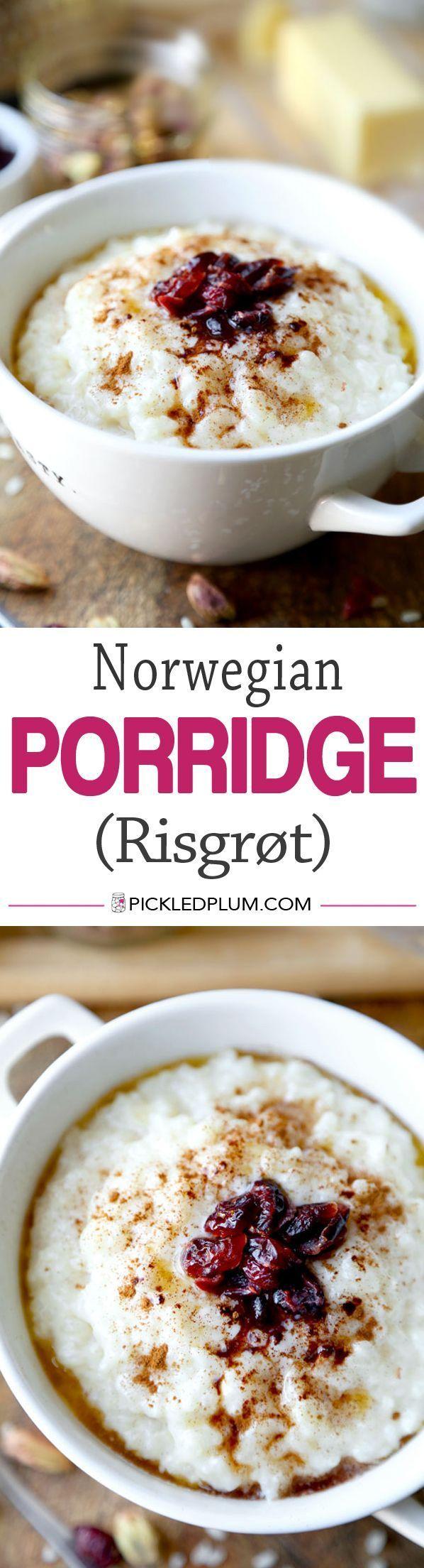 Norwegian Porridge Risgrot Pickled Plum Food And Drinks Recipe Viking Food Scandinavian Food Norwegian Food