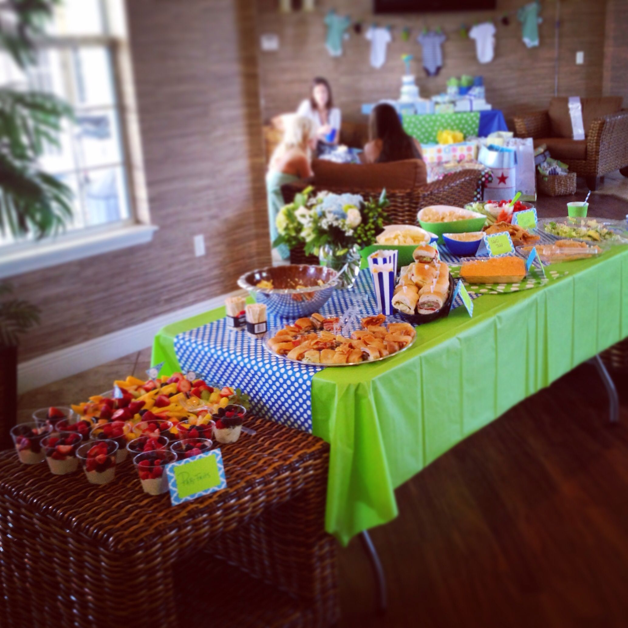 Golf Theme Baby Shower Food Table Set Up