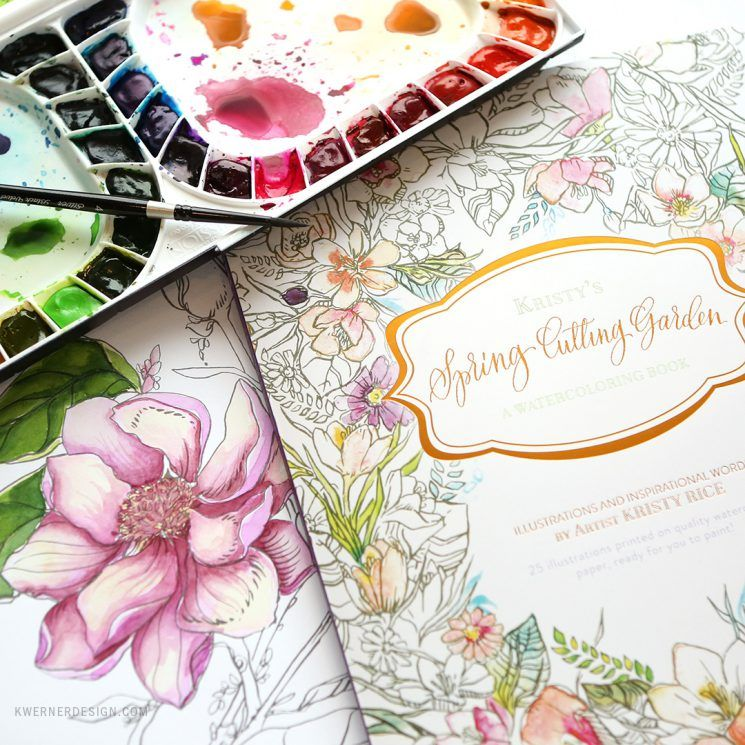 New Painterly Days Watercolor Coloring Book Giveaway Coloring