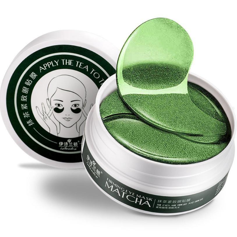 Photo of Women's 1 Set 60PCS Beauty Green Tea Powder Gel Collagen Eye Masks Sheet