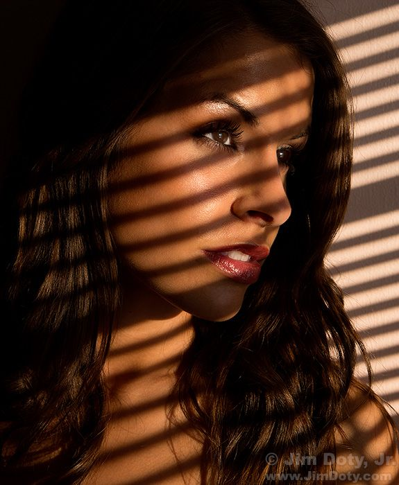 How To Create A Portrait Using Window Blind Shadows Part 1
